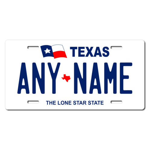 Personalized Texas License Plate for Bicycles, Kid's Bikes, Carts, Cars or Trucks