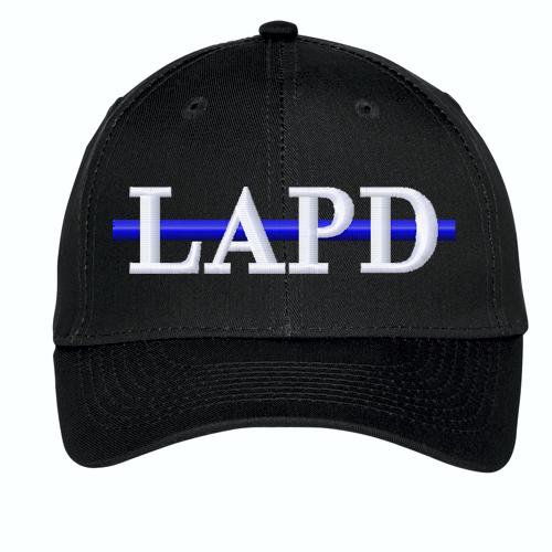 Custom Embroidered Blue Line Twill Cap