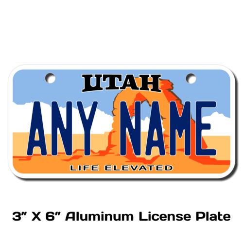 Personalized Utah 3 X 6 License Plate