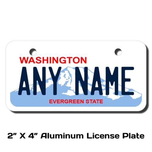 Personalized Washington 2 X 4 License Plate