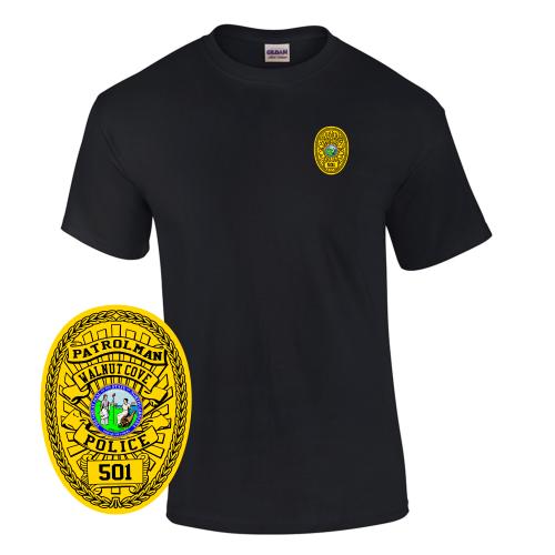 Law Enforcement Badge T-shirt Style 2 Custom Imprinted T-shirt