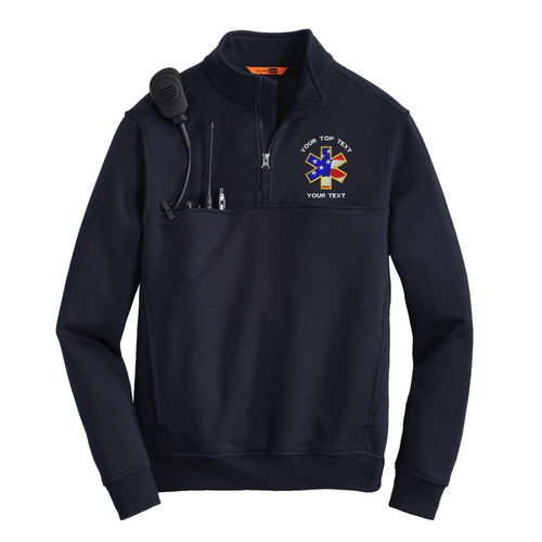Cornerstone 1/2 zip  Work Shirt With Custom Embroidered Logo