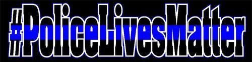 Blue Line Police Lives Matter Decal Reflective
