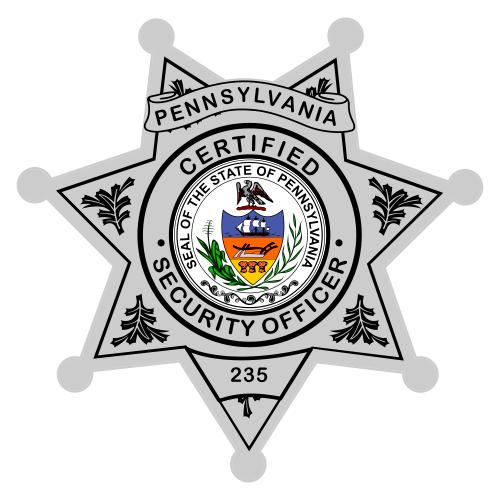 Custom Reflective Sheriff  Police 7 Point Badge Decal