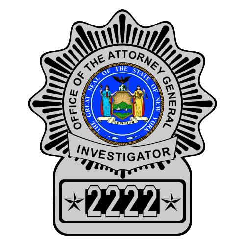 Custom Reflective Police Shield Badge Decal - New York Style