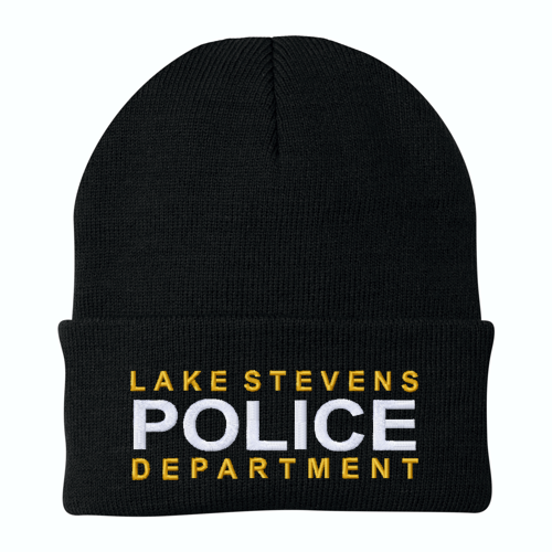 Police Custom Embroidered Beanie with Cuff