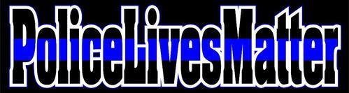 Blue Line Police Lives Matter Decal