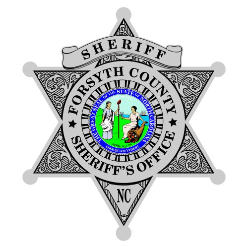 Custom Reflective Sheriff 6 Point Star Badge Decal