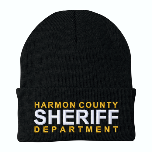 Sheriff Custom Embroidered Beanie with Cuff