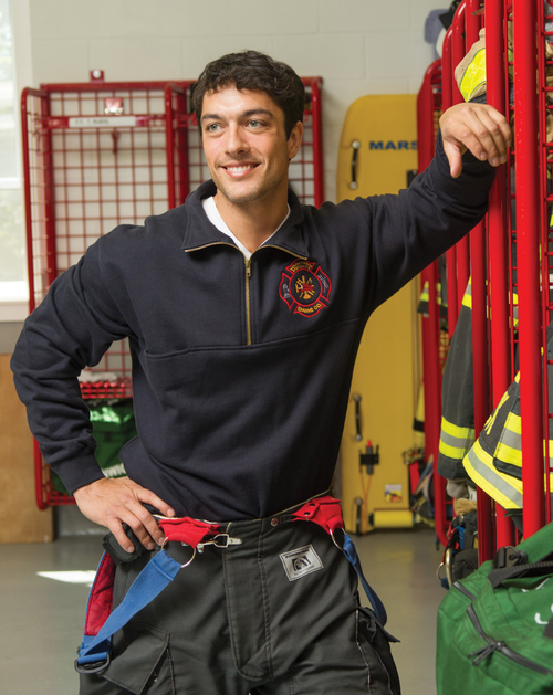 Game Firefighter Work Shirt Turtleneck With Custom Embroidered Logo