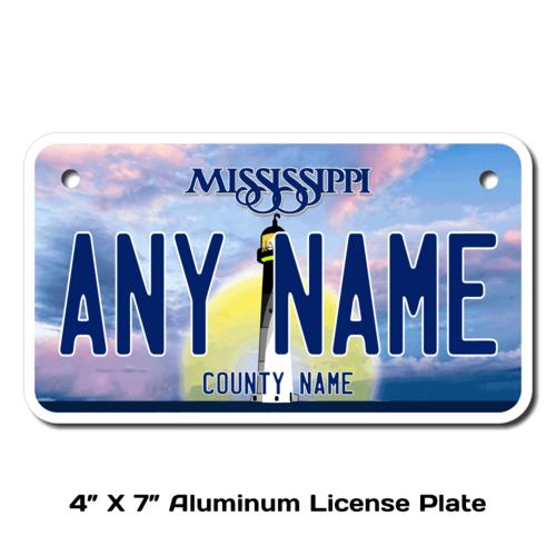 Personalized California 4 X 7 License Plate