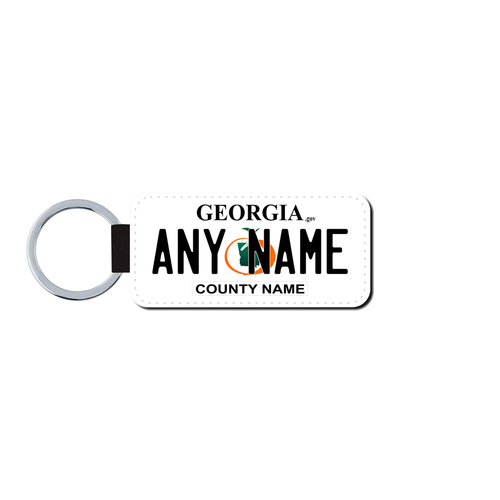 Personalized Georgia 1.5 X 3 Key Ring License Plate