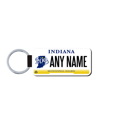 Personalized Indiana 1.5 X 3 Key Ring License Plate