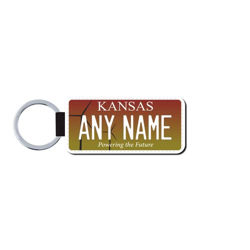 Personalized Kansas 1.5 X 3 Key Ring License Plate