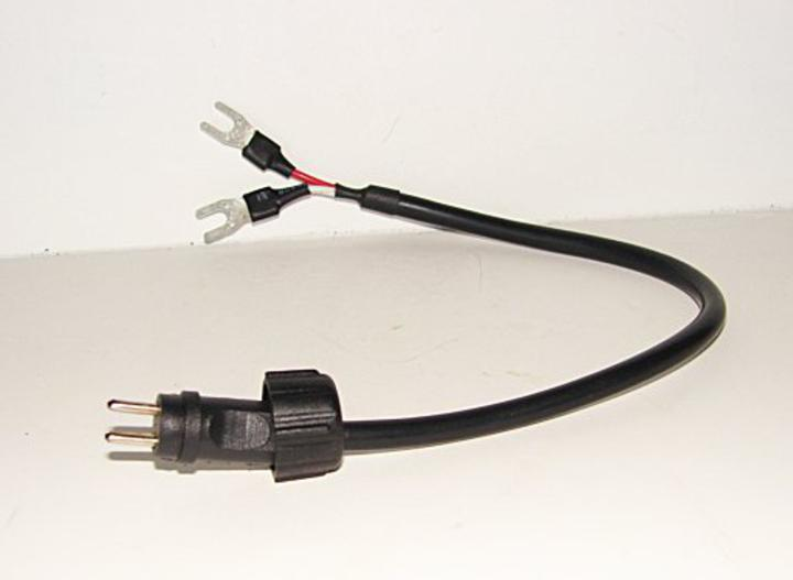 12v Low Voltage Spaded End Adapter Connect To A 2 Pin