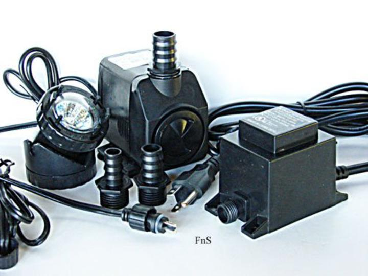Fountain Pump With Small Round Spot Light Combination Max