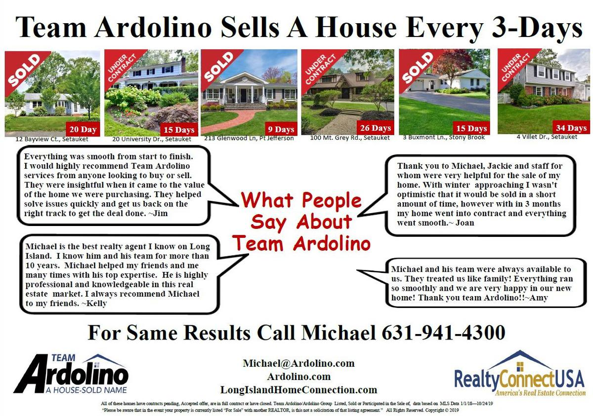 Did You Know That Team Ardolino Sells A House Every 3- Days????