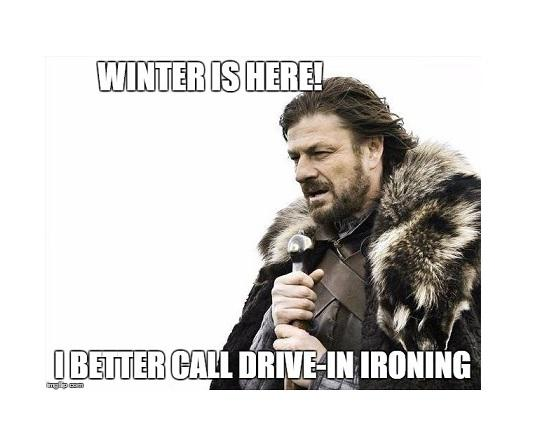 Drive in Ironing Winter Specials
