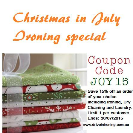 Christmas in July Ironing Special
