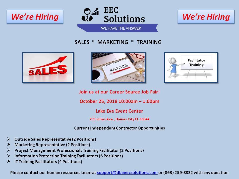 Career Source Job Fair (We're Hiring)