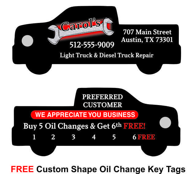 Punchable Key Tags has FREE Custom Shapes