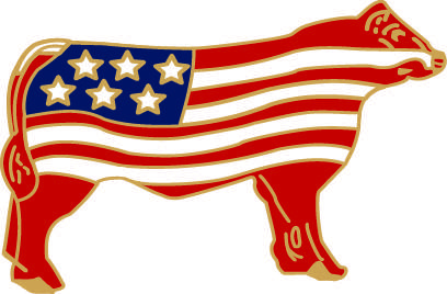 Lynmarlapelpins.com Cattle Flag Pin