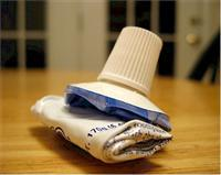 A Well Used Tube Of Toothpaste