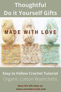 DIY Gifts - Crocheted Cotton Washcloths