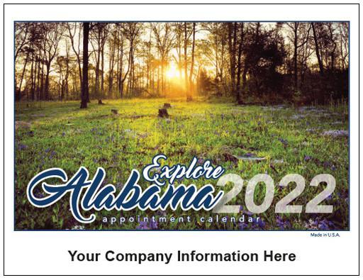 State Calendars for 2022 - Alabama