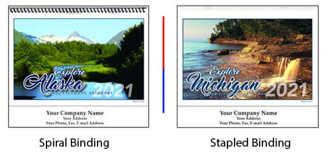 State Calendars Spiral or Stapled Binding
