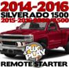 Plug Play Ready Chevrolet Silverado 1500 Remote Starter
