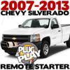 Plug Play Ready Chevrolet Silverado Remote Starter