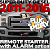 Ford Super Duty Diesel Plug Play Remote Starter