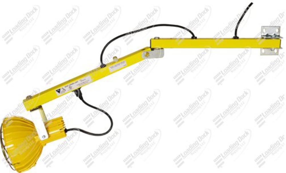 60 Inch Polycarbonate Single Strut Adjustable Dock Light