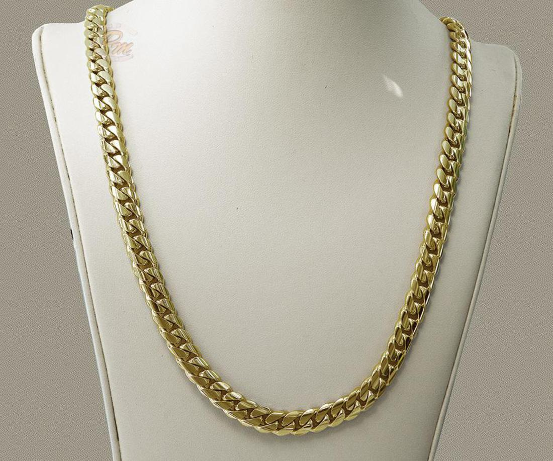 Cuban Link Chain For Sale >> Solid 14k Gold Miami Men S Cuban Curb Link Chain Necklace Heavy 99 8 Grams 24 7mm