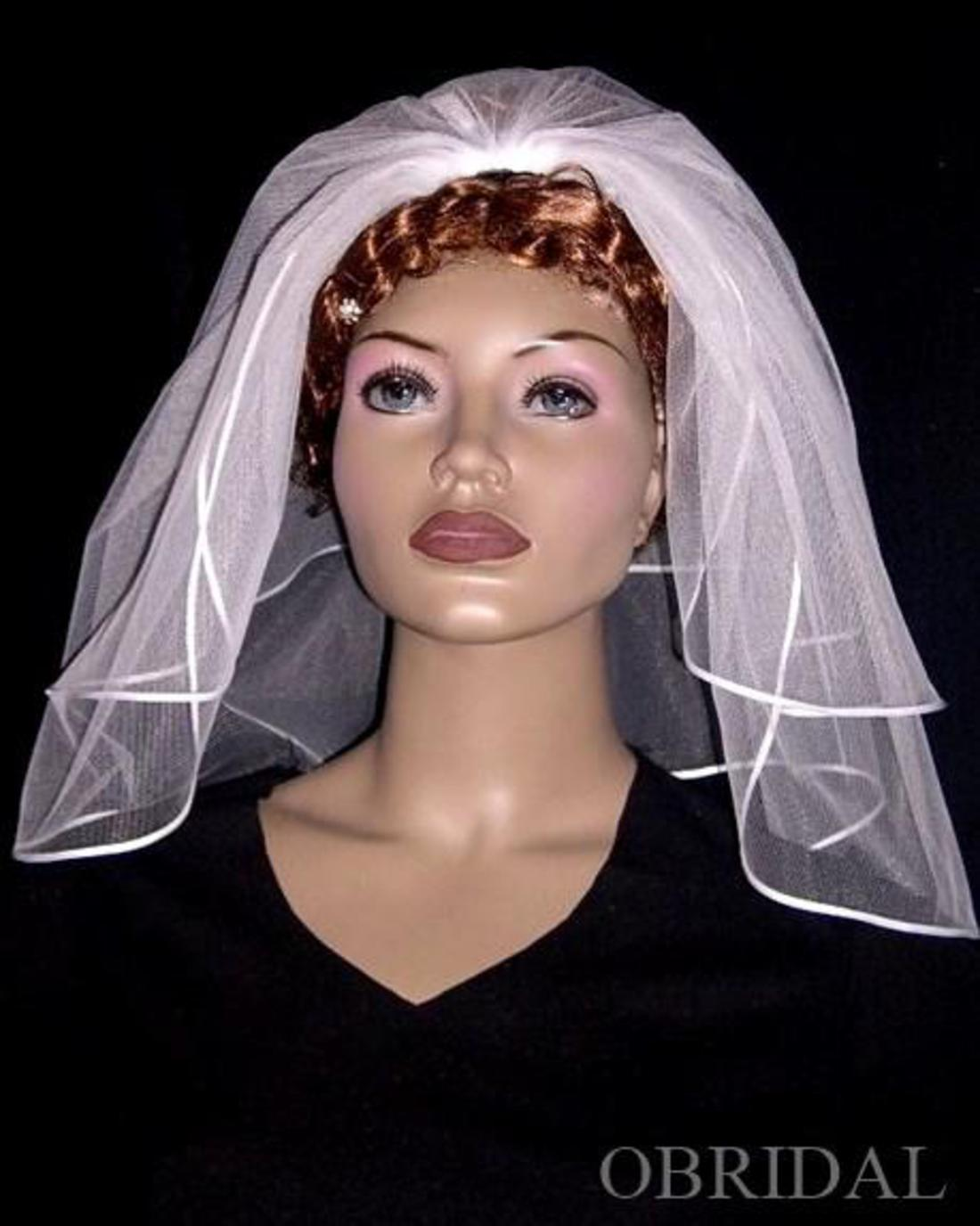 OBRIDAL Custom Wedding Veils - SH2-225 Short and Sweet Veil
