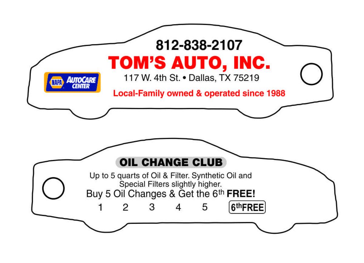 Punchable Key Tags Custom Auto Shape
