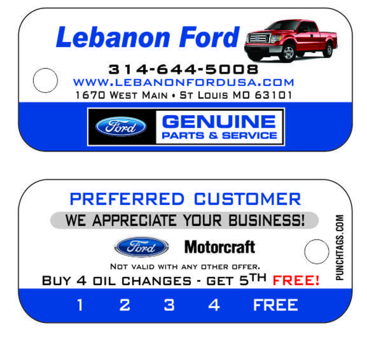 Oil Change Key Tags with Car Image