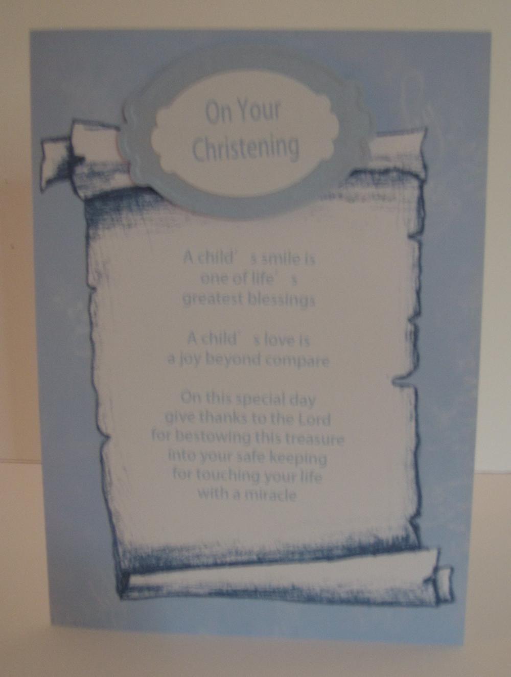 Christening Poetry Verses