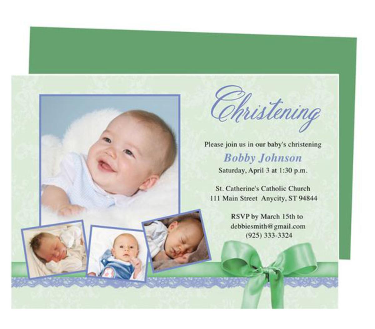 Christening/Baptism Ceremony Invitation Wording
