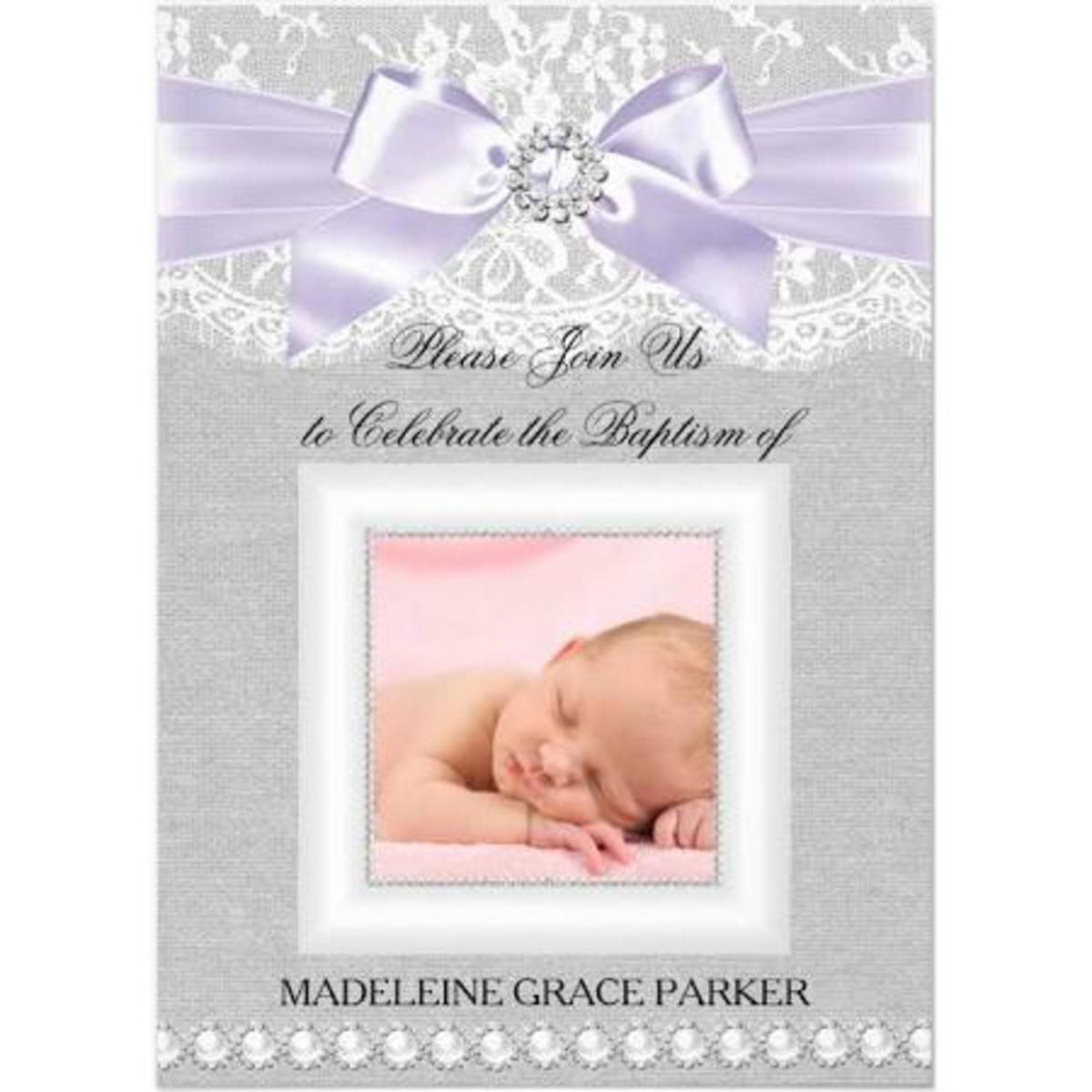 Information required for the Christening Invitation