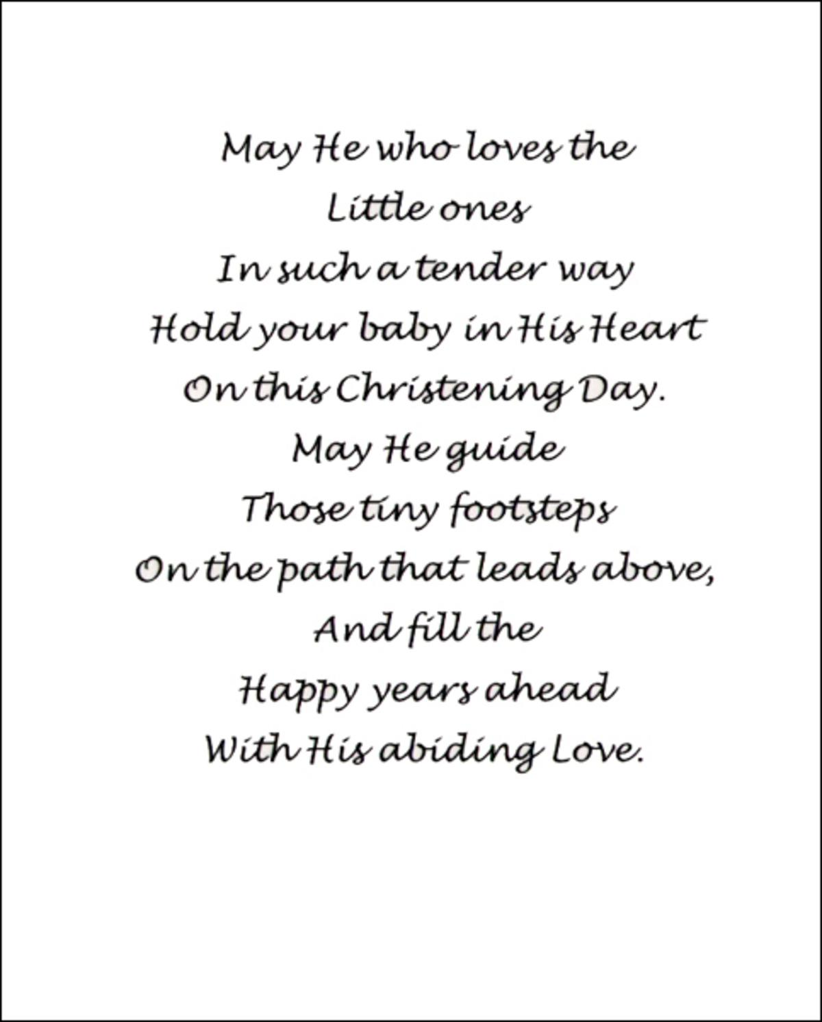 Poems and Readings for a Christening or Naming Ceremony