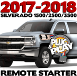 Plug Play Ready 2017 Chevrolet Silverado Remote Starter