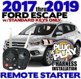 Ford Escape Plug Play Remote Starter Alarm