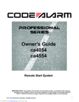 Code Alarm,Owners manual,operators manual,