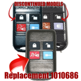 Code Alarm, Chapman, Ford, 4 Button Remote 2W7Z-15K601-BA