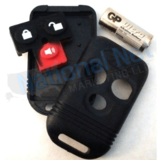 Code Alarm, Ford, Kia 3 Button Replacement Case Kit