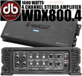 DB DRIVE WDX800.4 4 Channel Amplifier 1600 Watts