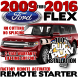 2016 Ford FLEX Plug Play Remote Starter Alarm