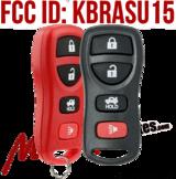 Keyless Entry Car Key Fob Replacement for Nissan Infiniti KBRASTU15